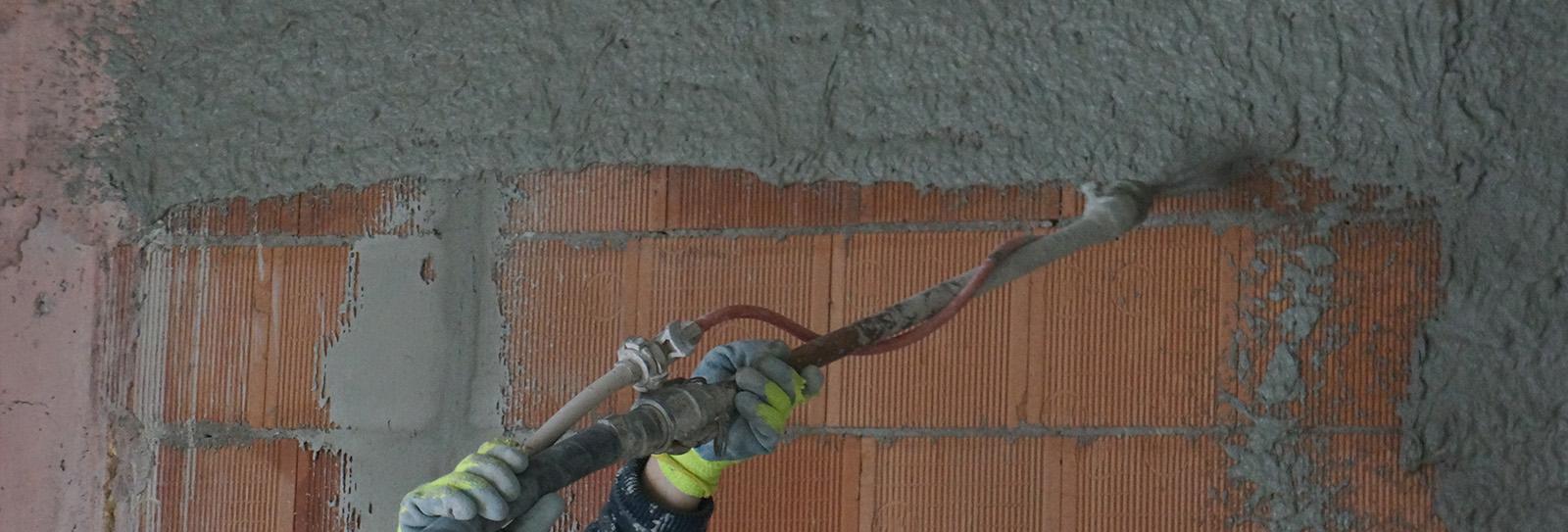 tencuiala mecanizata var ciment pentru casa